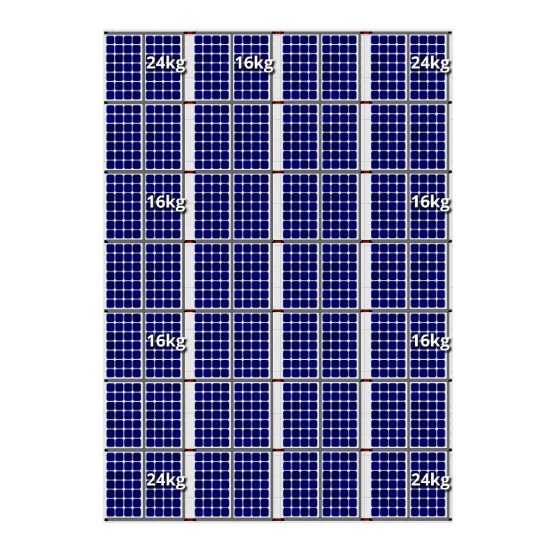 Flatfix fusion zuid opstelling 56 panelen 4 rijen