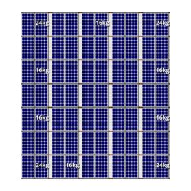 Flatfix fusion zuid opstelling 70 panelen 5 rijen