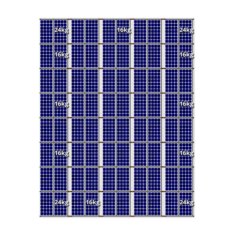 Flatfix fusion zuid opstelling 80 panelen 5 rijen