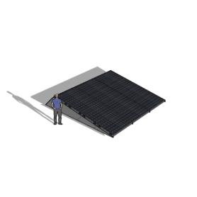 Zonneschans 12 panelen 3x4 rij Solar Garant