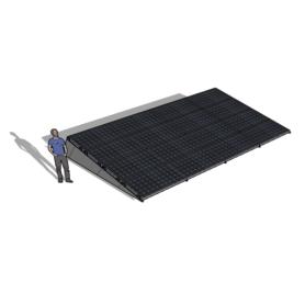 Zonneschans 16 panelen 4 rij Solar Garant
