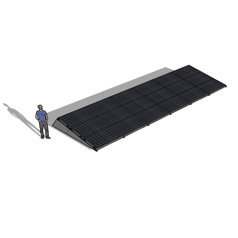 Chiko zonneschans 18 panelen 6 rij Solar Garant