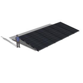 Zonneschans 24 panelen 6 rij Solar Garant