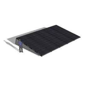 Zonneschans 25 panelen 5 rij Solar Garant