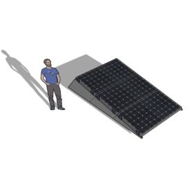 Zonneschans 3 panelen 1 rij Solar Garant