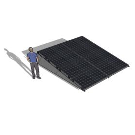 Chiko zonneschans 8 panelen 2x4 rij Solar Garant